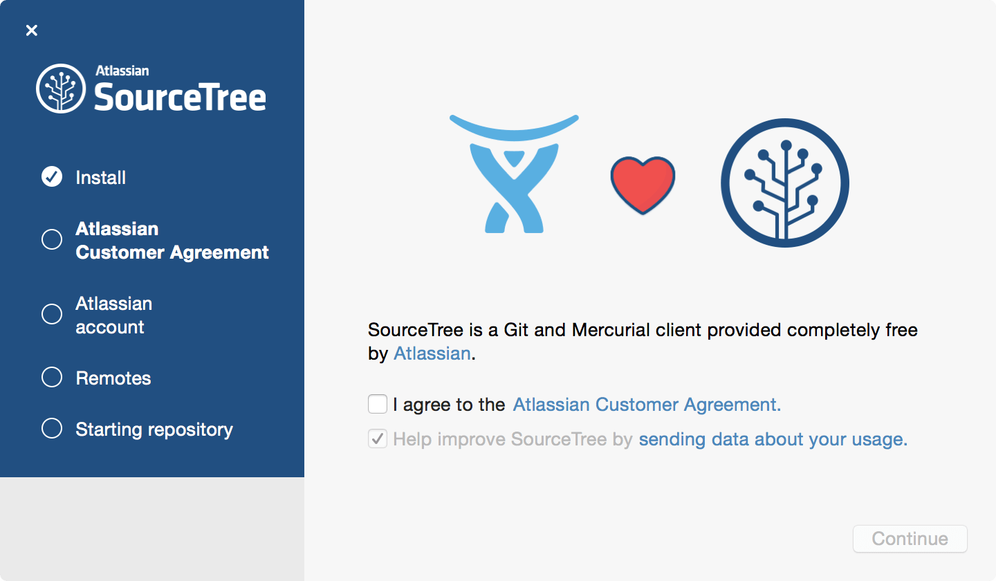 SourceTreeセットアップウィザード